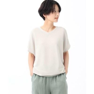 UNTITLED / アンタイトル 【洗える】レーヨンストレッチニットソー