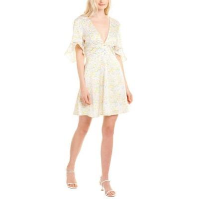 ハッチ ワンピース トップス レディース Hutch Satin Mini Dress white multicolor