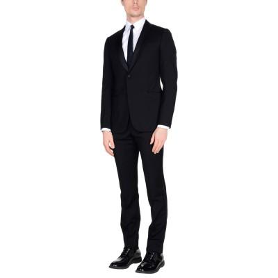 アルマーニ コレッツィオーニ ARMANI COLLEZIONI スーツ ブラック 54 100% バージンウール ポリエステル シルク スーツ