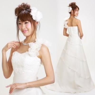 二次会ドレスレンタル 5号 オフホワイト Aライン 結婚式 2次会 お呼ばれ 1058 送料無料