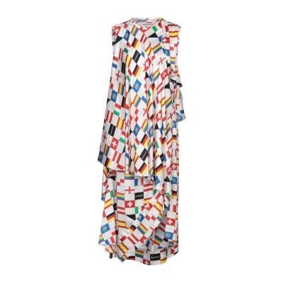 バレンシアガ BALENCIAGA 7分丈ワンピース・ドレス ホワイト 34 シルク 100% 7分丈ワンピース・ドレス