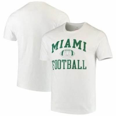 Fanatics Branded ファナティクス ブランド スポーツ用品  Fanatics Branded Miami Hurricanes White Neutral Zone T-Shirt