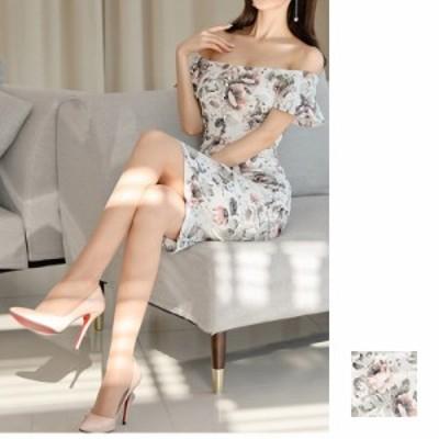 韓国 ファッション レディース ワンピース パーティードレス ひざ丈 ミディアム 夏 春 パーティー ブライダル naloI355 結婚式 お呼ばれ