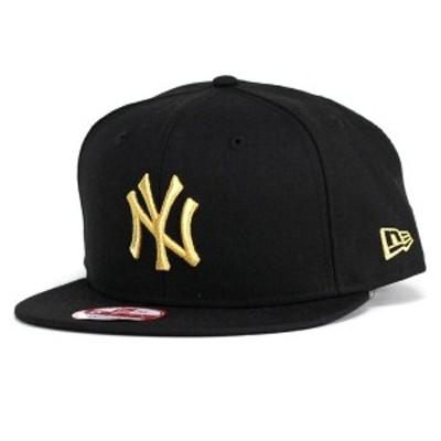 NEWERA キャップ メンズ ニューエラ new era 9FIFTY ニューヨーク・ヤンキース ブラック×メタリック