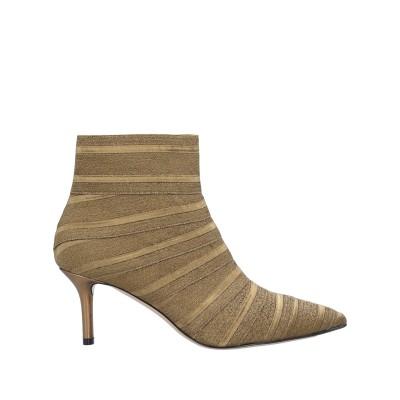 カサデイ CASADEI ショートブーツ ブロンズ 40 紡績繊維 ショートブーツ