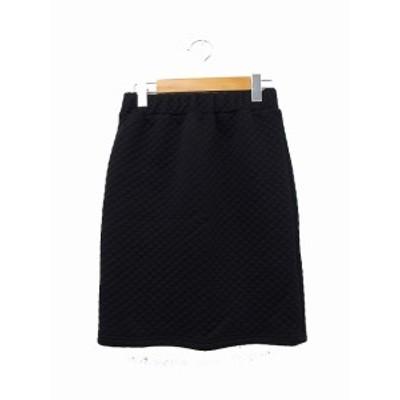 【中古】レディラックルカ LADY LUCK LUCA スカート 台形スカート ギャザー ミニ 無地 シンプル ブラック 黒 /KT37 レディース