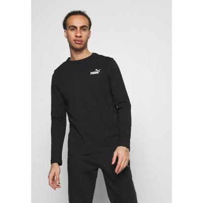 プーマ カットソー メンズ トップス SMALL LOGO LONGSLEEVE TEE - Long sleeved top - puma black