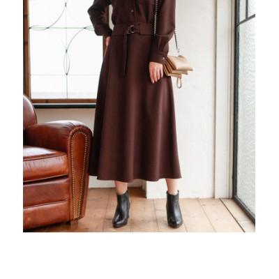 ウールライクサキソニースカート