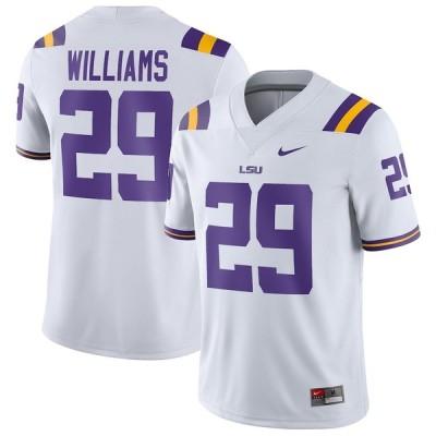 """ナイキ メンズ ジャージ Greedy Williams """"LSU Tigers"""" Nike Game Jersey - White"""