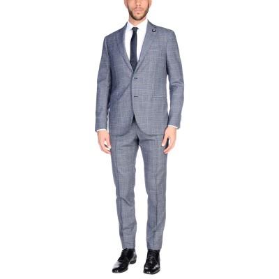 ラルディーニ LARDINI スーツ ダークブルー 48 ウール 100% スーツ