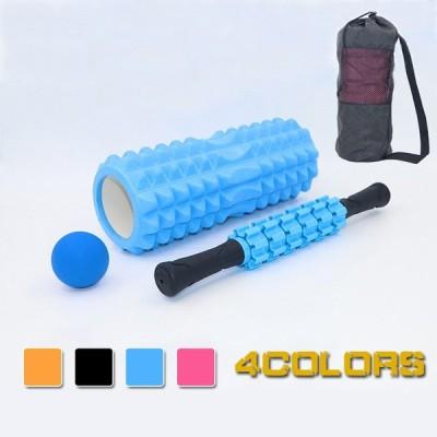 ヨガポール ストレッチ 筋膜リリース スティック マッサージ ボール トレーニング 背中 腰 肩こり 4点セット 送料無料