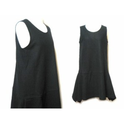 pour deux 変形フレアワンピース (black flare one-piece) プルドゥ 047323【中古】