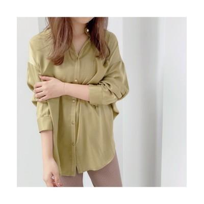 VICKY / ピーチサテンシャツ WOMEN トップス > シャツ/ブラウス
