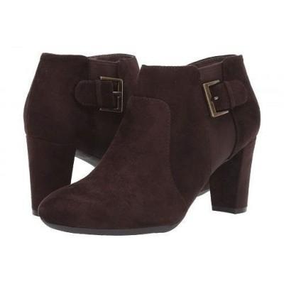 Aerosoles エアロソールズ レディース 女性用 シューズ 靴 ブーツ アンクルブーツ ショート Have At It - Brown Fabric