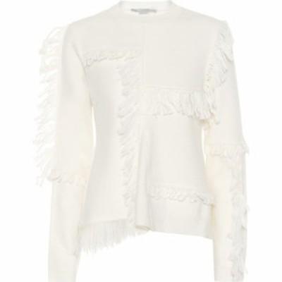 ステラ マッカートニー Stella McCartney レディース ニット・セーター トップス Fringed wool sweater Ivory