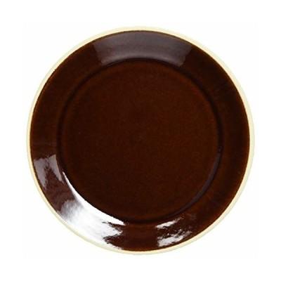 益子焼 伝統釉 フラット プレート 皿 S 飴釉 TH-4