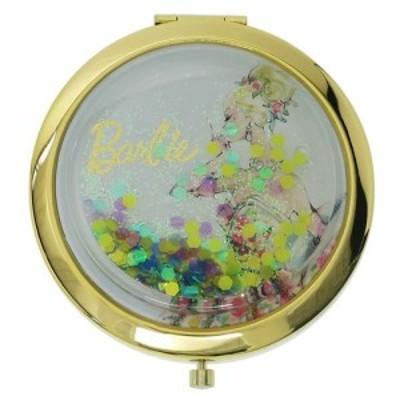 バービー 手鏡 コンパクトミラー ハート&ラメBL Barbie ギフト雑貨 キャラクター グッズ メール便可