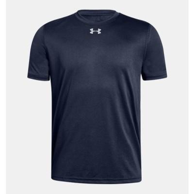アンダーアーマー キッズ Tシャツ Under Armour UA Locker T-Shirt 半袖 Midnight Navy / White