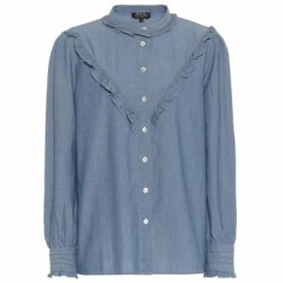 アーペーセー A.P.C. レディース ブラウス・シャツ トップス Polly ruffled chambray blouse Indigo Delave