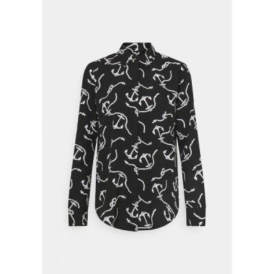 ラルフローレン シャツ レディース トップス Button-down blouse - black/white
