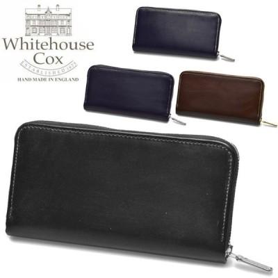 ホワイトハウスコックス メンズ レディース 財布 ラージ ジップ ラウンド パース WHITEHOUSE COX 01-60490003