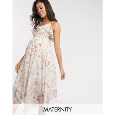 ホープ&アイビー Hope & Ivy Maternity レディース ワンピース ミドル丈 ワンピース・ドレス Off Shoulder Midi Dress In Ditsy Print マルチカラー