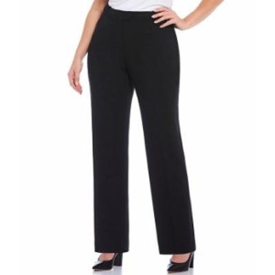 カルバンクライン レディース カジュアルパンツ ボトムス Plus Size Mid-Rise Straight Leg Pants Black