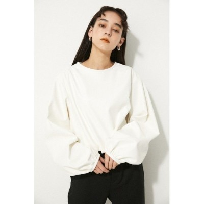 tシャツ Tシャツ F/LEATHER CROPPED TOPS