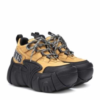 ヴェトモン Vetements レディース スニーカー シューズ・靴 x SWEAR nubuck platform sneakers Camel