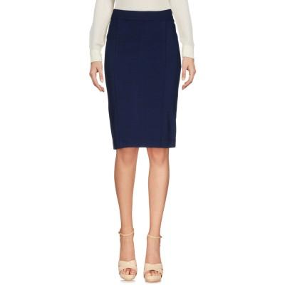 マニラ グレース MANILA GRACE ひざ丈スカート ダークブルー 42 レーヨン 70% / ナイロン 26% / ポリウレタン 4% ひざ