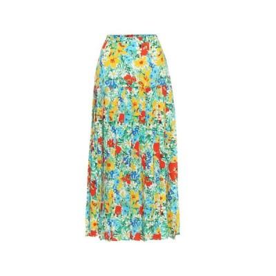 リキソ Rixo レディース ひざ丈スカート スカート Tina floral cotton midi skirt Retro Garden