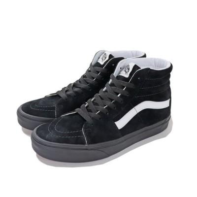 バンズ スニーカー メンズ スケートハイ ブラックスウェード USA規格 限定カラー VANS SK8-HI (PIG SUEDE) BLACK/BLACK
