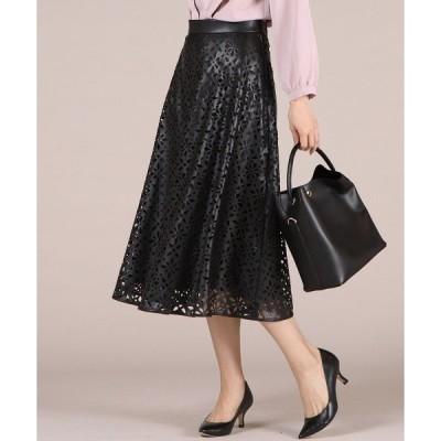 スカート エコレザースカート