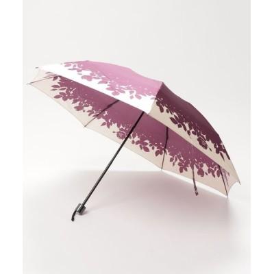 MOONBAT / 折りたたみ傘 【花シルエット】 WOMEN ファッション雑貨 > 折りたたみ傘