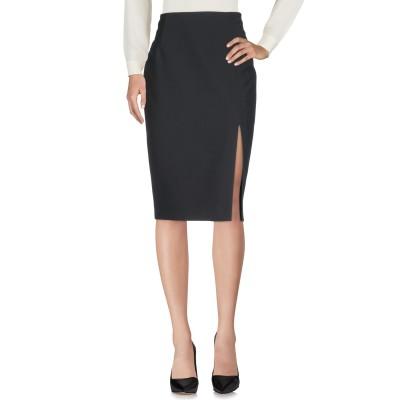 リュー ジョー LIU •JO 7分丈スカート ブラック 46 ポリエステル 88% / ポリウレタン 12% 7分丈スカート