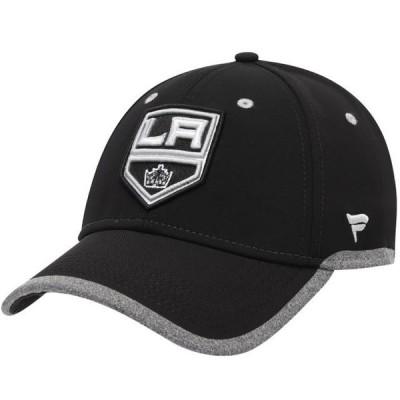 ユニセックス スポーツリーグ ホッケー Los Angeles Kings Fanatics Branded Static Speed Stretch Fit Flex Hat - Black 帽子