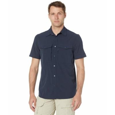 フェールラーベン シャツ トップス メンズ Abisko Trekking Short Sleeve Shirt Dark Navy