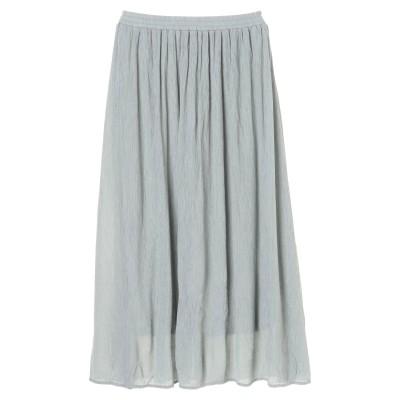 楊柳クレープフレアスカート