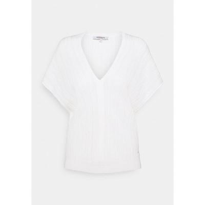 モーガンレーン Tシャツ レディース トップス MFY - Basic T-shirt - off white