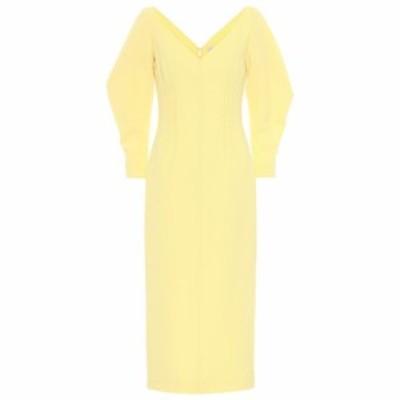 エミリア ウィックステッド Emilia Wickstead レディース ワンピース ワンピース・ドレス Calla wool crepe midi dress Yellow