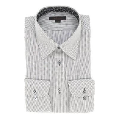 【タカキュー】 形態安定レギュラーフィット レギュラーカラー長袖ビジネスドレスシャツ/ワイシャツ メンズ ブラック M:39-84 TAKA-Q