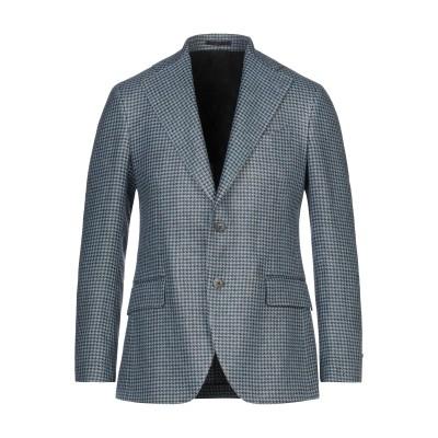 ガブリエレ パジーニ GABRIELE PASINI テーラードジャケット ブルー 48 指定外繊維(ヘンプ) 75% / ウール 25% テーラー