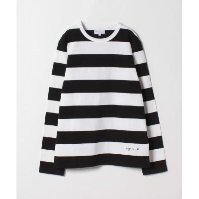 【アニエスベー】 SCE2 TS ボーダーTシャツ メンズ ブラック 0 agnes b.