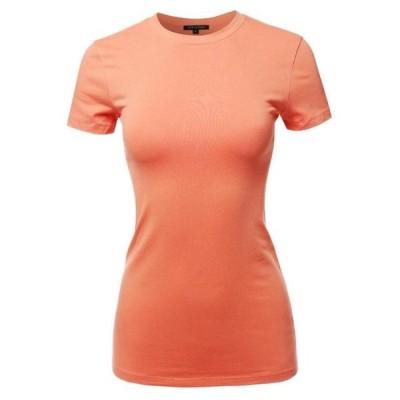 レディース 衣類 トップス FashionOutfit Women's Basic Cotton Crew Neck Short Sleeve Top Tシャツ