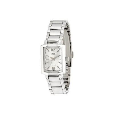 カシオ 腕時計  Casio LTP1233D-7A レディース ステンレス スチール Square カジュアル ドレス 腕時計 シルバー ダイヤル