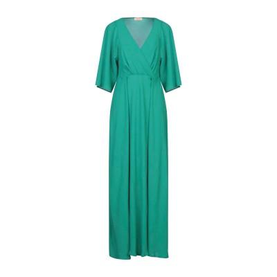 MAESTA ロングワンピース&ドレス グリーン 38 PES - ポリエーテルサルフォン 100% ロングワンピース&ドレス