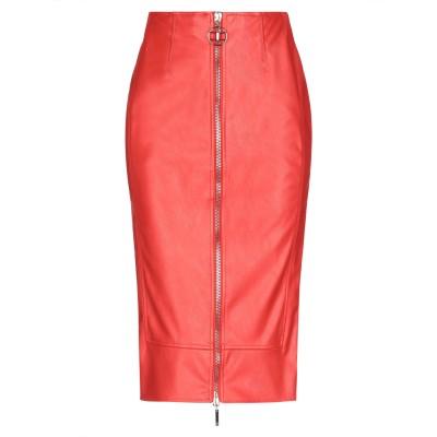 ELISABETTA FRANCHI 7分丈スカート レッド 42 ポリエステル 100% / ポリウレタン 7分丈スカート
