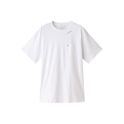 Ezick エジック ポケットTシャツ レディース ホワイト F