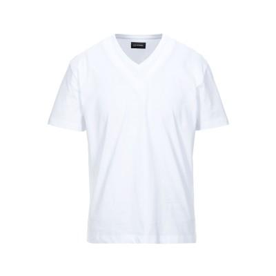 LES HOMMES T シャツ ホワイト L コットン 100% T シャツ