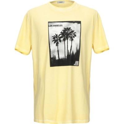 セブンティ SEVENTY SERGIO TEGON メンズ Tシャツ トップス T-Shirt Yellow